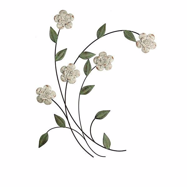 Picture of Haddon Grey Floral Metal Wall Decor