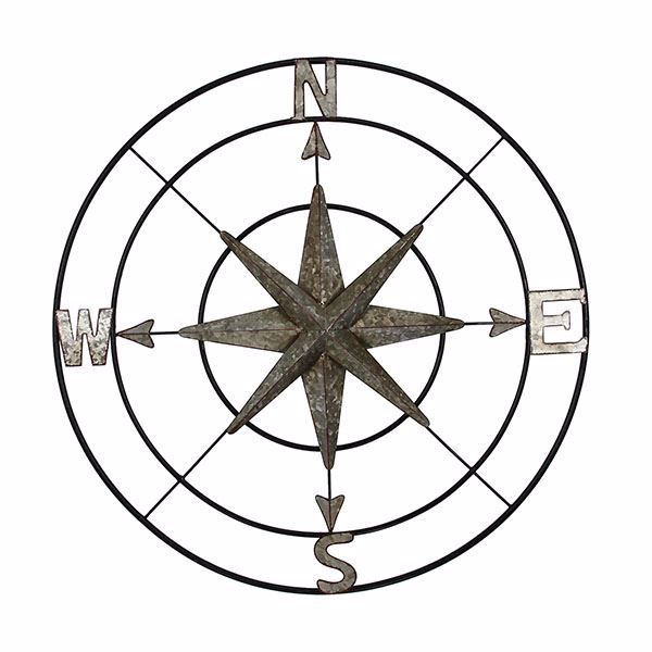 Picture of Cypress Black Compass Wall Decor