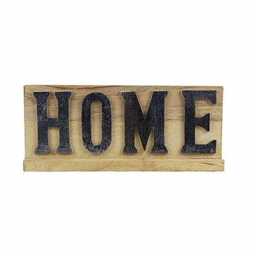 Picture of Turpin Home Light Brown Wood Sign
