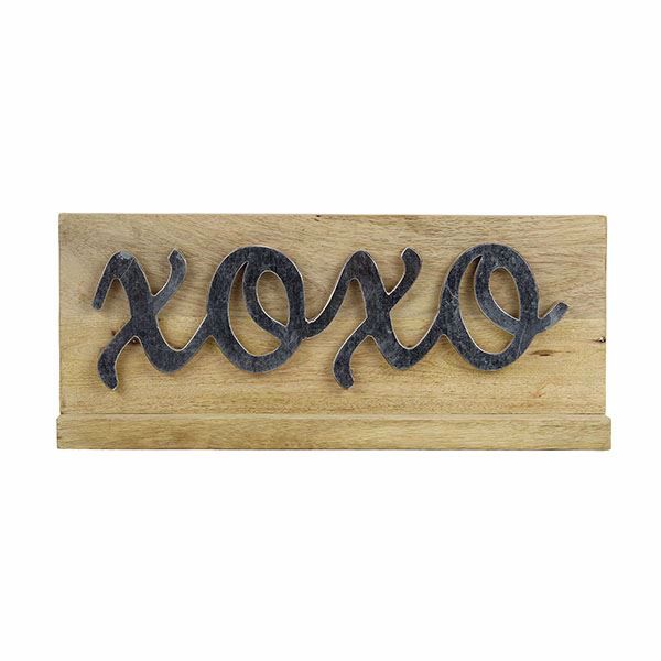 Picture of Turpin Xoxo Light Brown Wood Sign