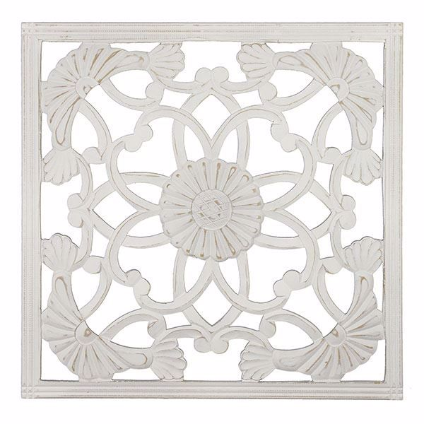 Picture of Jayda White Carved Medallion