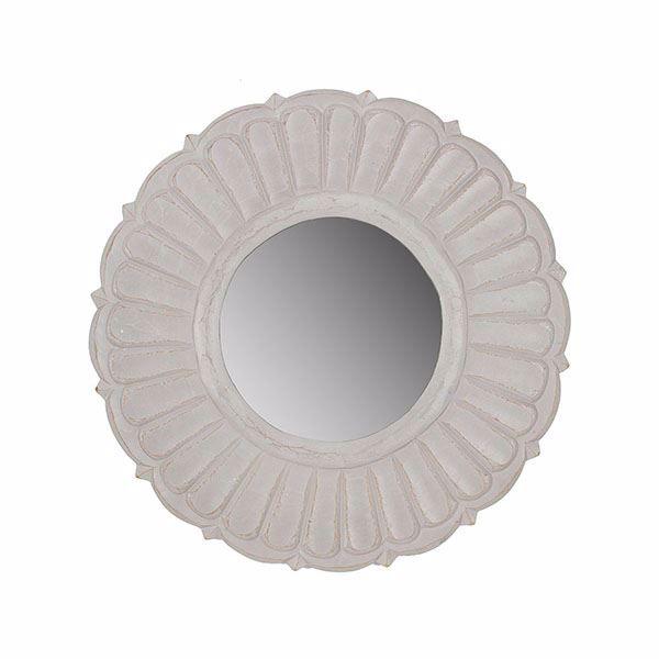 Picture of Hefez White Round Mirror