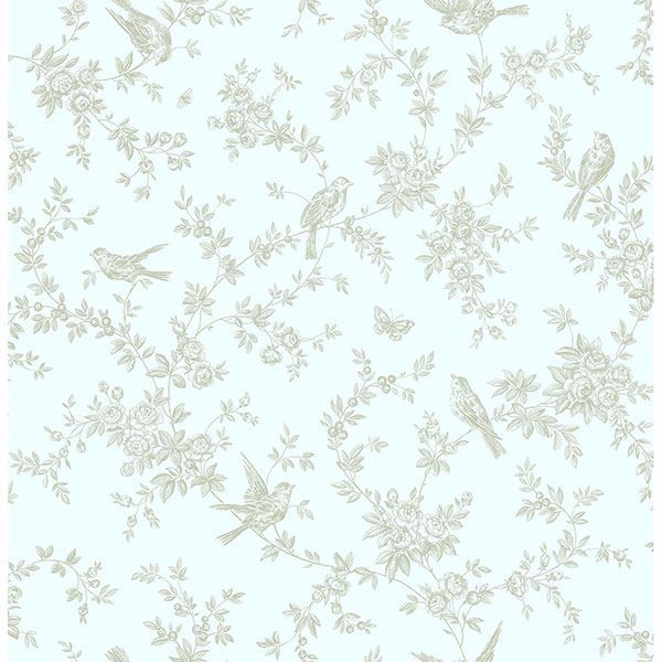 Picture of Mafra Green Floral Trails Wallpaper