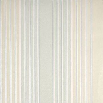 Vickie Turquoise Stripe Wallpaper
