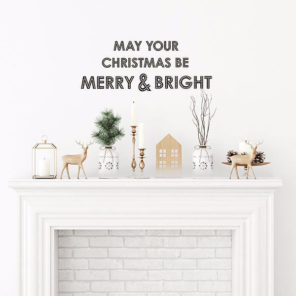 Merry and Bright Wall Decal