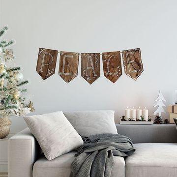 Peace Christmas Wall Decal