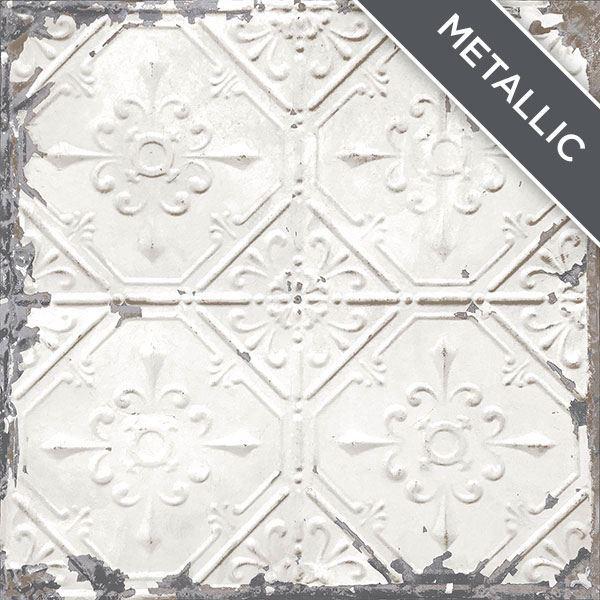 Nu2086 Vintage Tin Tile Peel Amp Stick Wallpaper By