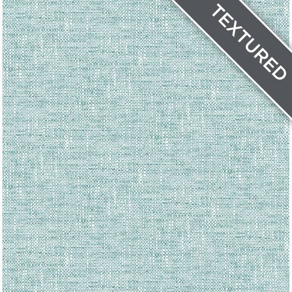 Aqua Poplin Texture Peel and Stick Wallpaper