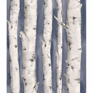 Picture of Pioneer Denim Birch Tree Wallpaper