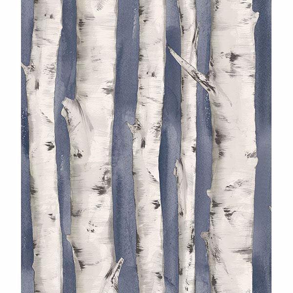 Picture of Pioneer Denim Birch Tree Wallpaper