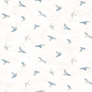Picture of Soar Denim Bird Wallpaper