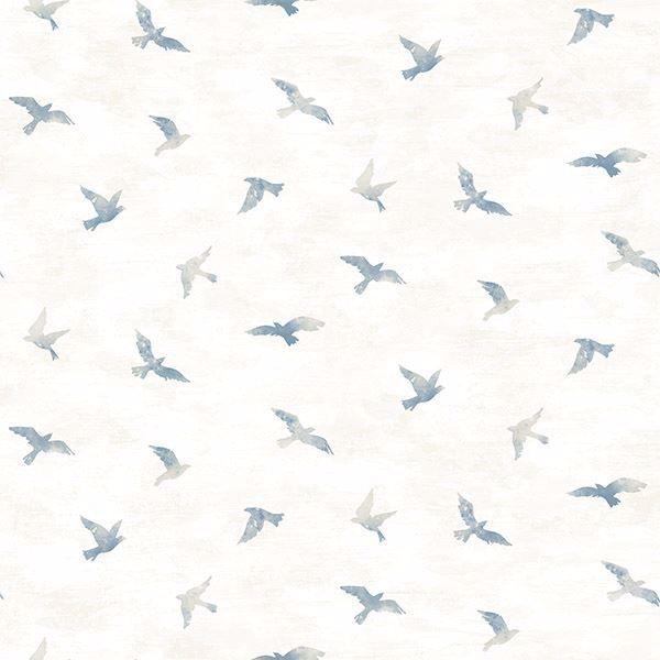 Picture of Soar Denim Bird Wallpaper
