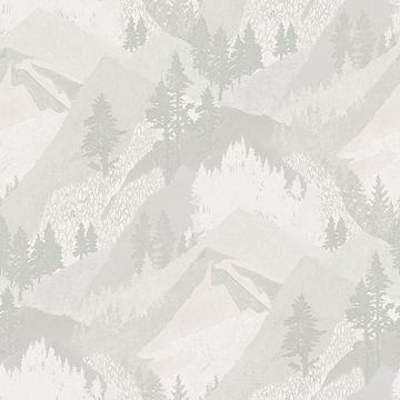 Picture of Range Light Grey Mountains Wallpaper