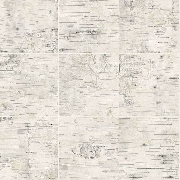 Picture of Champlain Cream Grid Wood Wallpaper
