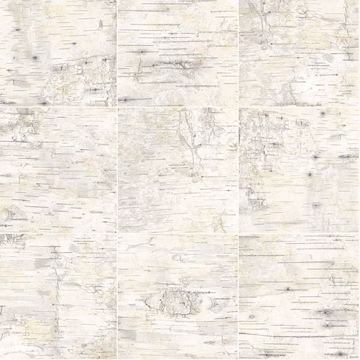 Picture of Champlain Grey Grid Wood Wallpaper