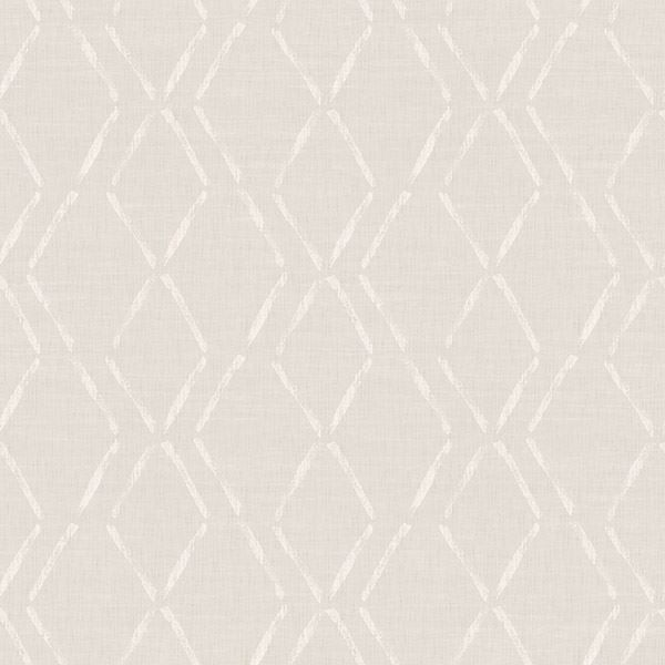 Picture of Tapa Beige Trellis Wallpaper