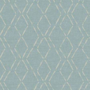 Picture of Tapa Teal Trellis Wallpaper