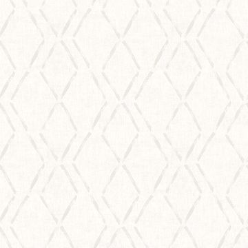 Picture of Tapa Cream Trellis Wallpaper
