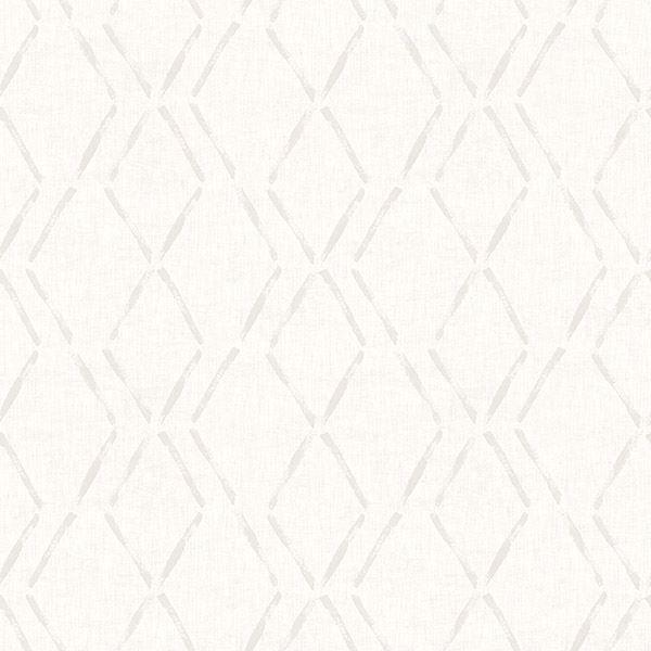 Picture of Tapa Cream Trellis Wallpaper