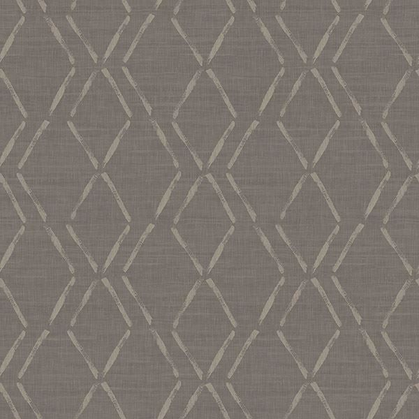 Picture of Tapa Brown Trellis Wallpaper