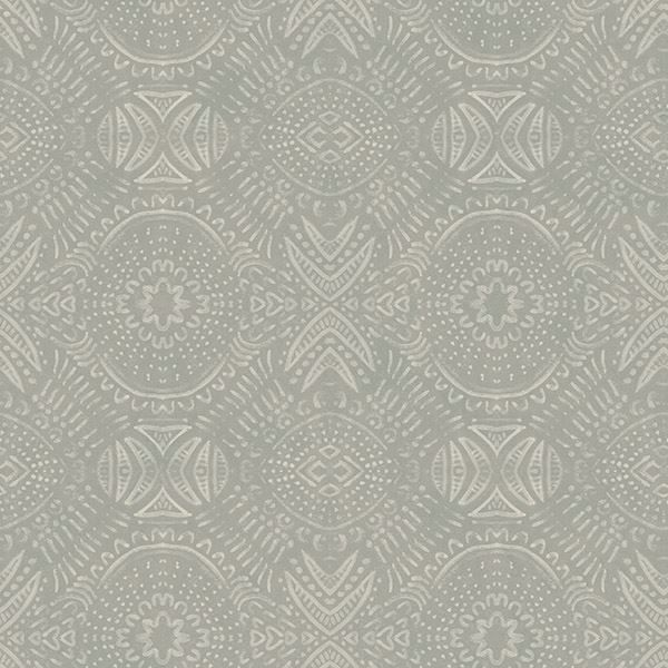 Picture of Java Beige Medallion Wallpaper