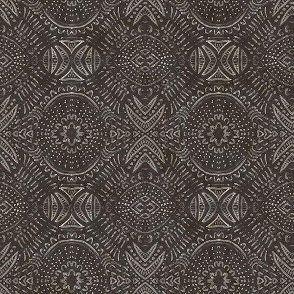 3118 12663 Java Dark Brown Medallion Wallpaper By