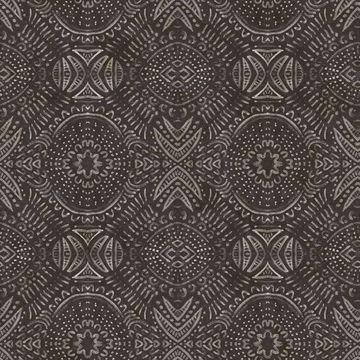 Picture of Java Dark Brown Medallion Wallpaper