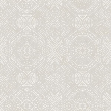 Picture of Java Light Grey Medallion Wallpaper