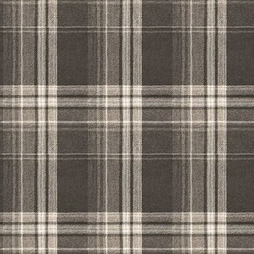 Picture of Saranac Dark Brown Flannel Wallpaper
