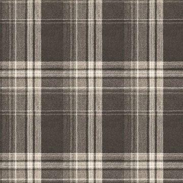 Picture of Saranac Dark Brown Flannel Wallpaper