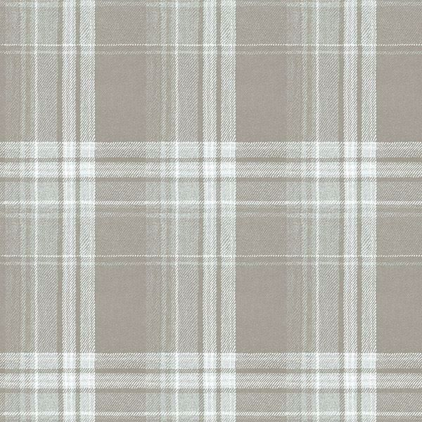 Picture of Saranac Grey Flannel Wallpaper