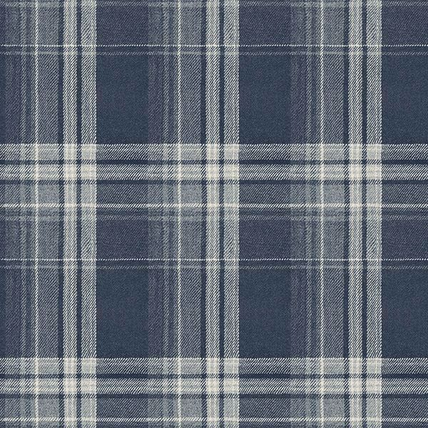 Picture of Saranac Navy Flannel Wallpaper