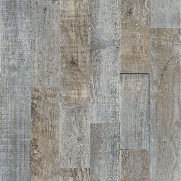 Picture of Chebacco Grey Wooden Planks Wallpaper