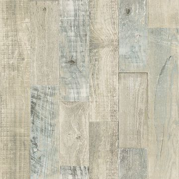 Picture of Chebacco Beige Wooden Planks Wallpaper