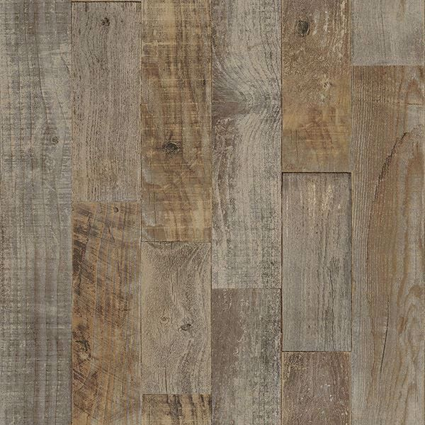 Picture of Chebacco Brown Wooden Planks Wallpaper