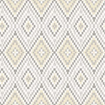 Picture of Ganado Beige Geometric Ikat Wallpaper