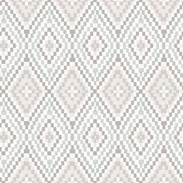 Picture of Ganado Grey Geometric Ikat Wallpaper