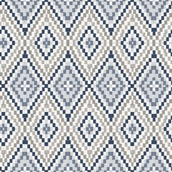 Picture of Ganado Navy Geometric Ikat Wallpaper