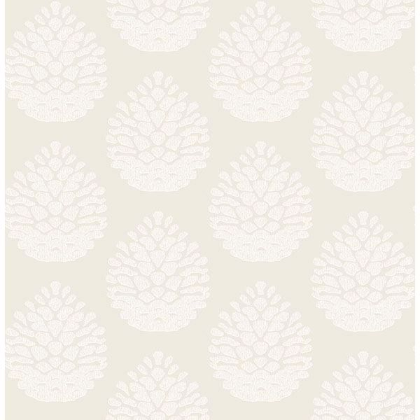 Picture of Totem Eggshell Pinecone Wallpaper