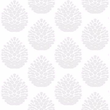 Picture of Totem Light Grey Pinecone Wallpaper