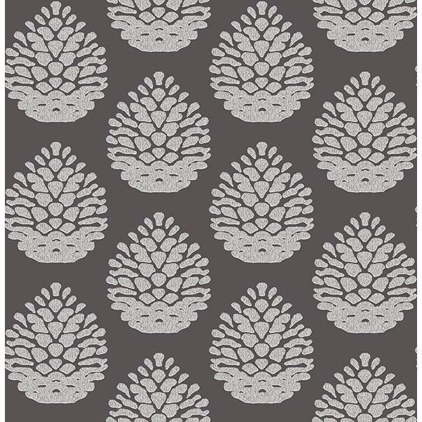 Picture of Totem Taupe Pinecone Wallpaper