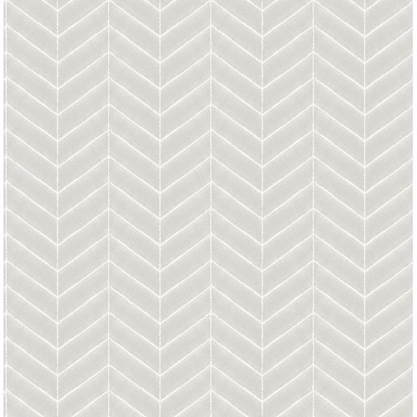 Picture of Bison Grey Herringbone Wallpaper