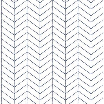 Picture of Bison Navy Herringbone Wallpaper
