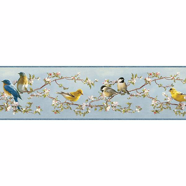 Picture of Songbird Multicolor Floral Trail Border
