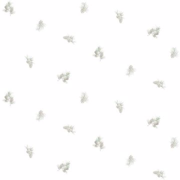 Picture of Pinecone Toss Sage Conifer Wallpaper