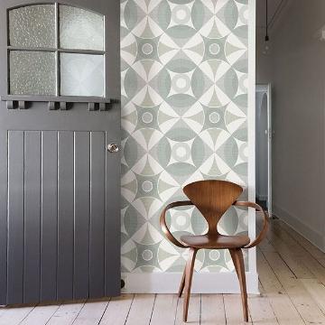 Picture of Ellis Sage Geometric Wallpaper