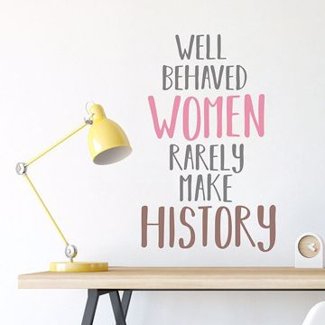 Picture of Women Make History Wall Quote Decals