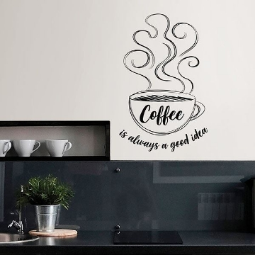 Picture of Always Coffee Wall Quote Decals