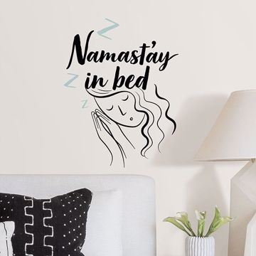 Picture of Namast'ay in Bed Wall Quote Decals