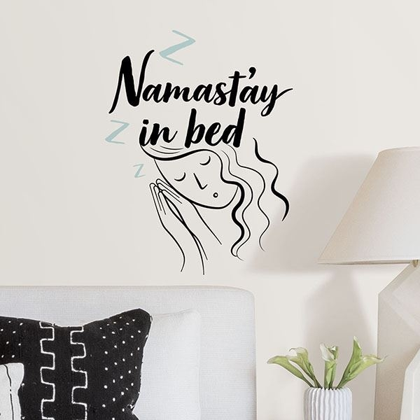 Picture of Namastay in Bed Wall Quote Decals